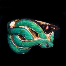 Turquoise Snake Sterlingsilver Ring For Woman