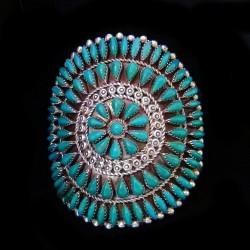 Bracelet Amerindien Zuni Pierre Couleur au Choix Pour Femme