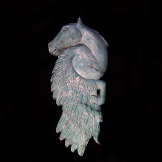 Pegasus Handcarved Turquoise For Pendant or Bracelet