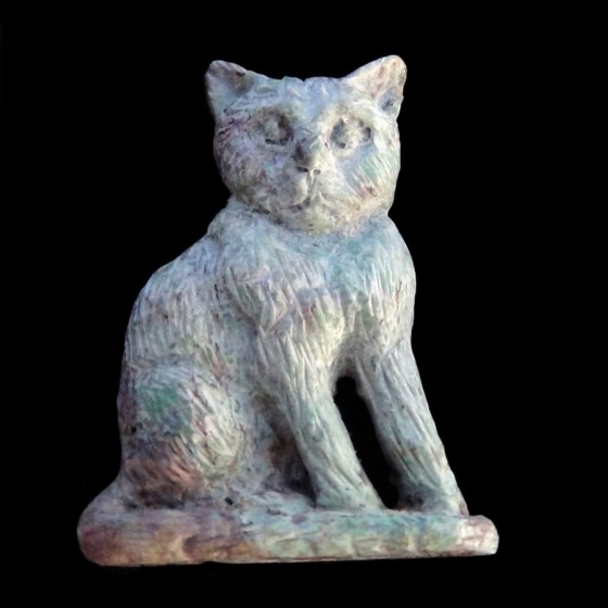 Turquoise Carved Cat