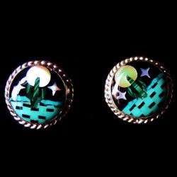 Cactus by Night Sterlingsilver Earrings Farbe nach Wahl
