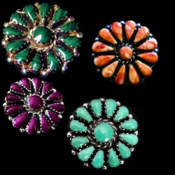 Sun Color Choice Zuni Sterlingsilver Earrings