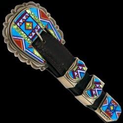 Navajo Sterlingsilver Ranger Belt Buckle