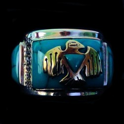 Thunderbird Sterlingsilver Ring Background Color Choice