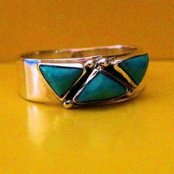 TURQUOISE STERLINGSILVER RING
