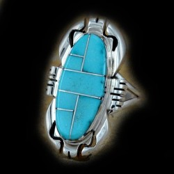 Semi precious Stone Color Choice Channel Inlay Sterlingsilver Ring