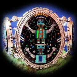 Oval Bracelet Kshina Stone-to-stone Inlay For women