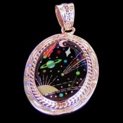 Universe Cosmos Sterlingsilver Pendant