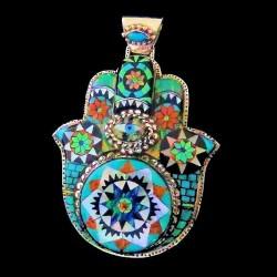 Fatma Hand Opal Sterlingsilver Pendant