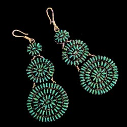 Indian Zuni Sun Sterlingsilver Earrings