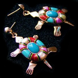 BOUCLES TORTUE MULTICOLORES