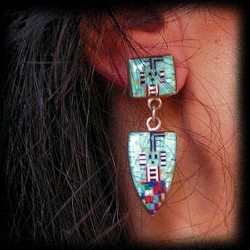 ARROW HEAD ZUNI SILVER EARRINGS