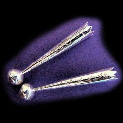 STERLING SILBER BOLO TIPS