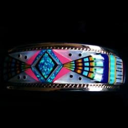 Navajo Pattern Sterlingsilver Bracelet For Woman