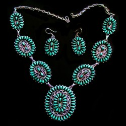 ZUNI TEARDROPS NECKLACE