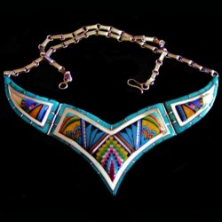 ZUNI INLAID COLLAR NECKLACE