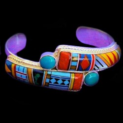 ZUNI MULTICOLOR AND TURQUOISE BRACELET
