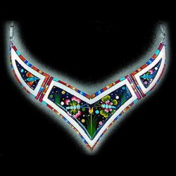 ZUNI BUTTERFLY INLAID COLLAR NECKLACE