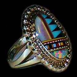 ZUNI STERLINGSILVER RING