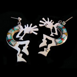 Kokopelli Sterlingsilver Earrings