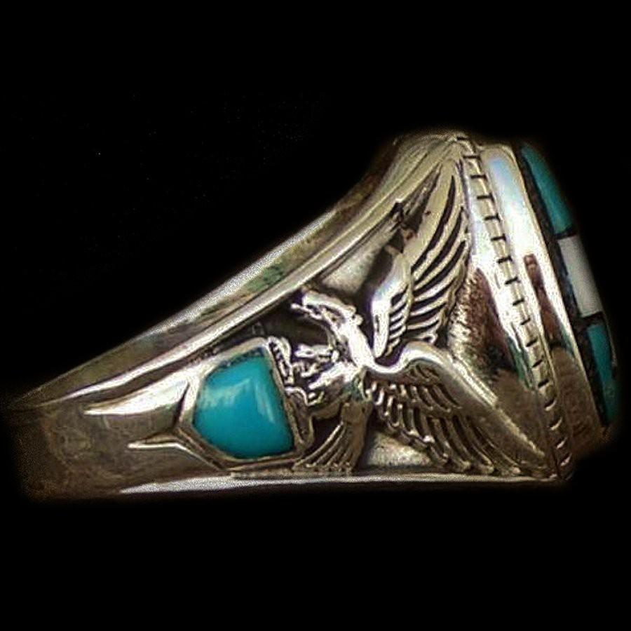 bague chevali re amerindienne pour femme et pour homme symbole nava. Black Bedroom Furniture Sets. Home Design Ideas