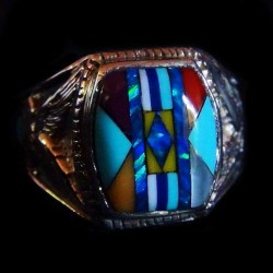 Navajo Pattern Sterling Silver Ring For Woman or For Man