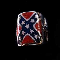 CONFEDERATE FLAG RING