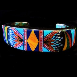 ZUNI BRACELET INLAY FOR WOMAN AND MAN