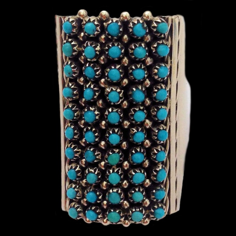 ZUNI SNAKE EYE RING 50 TURQUOISES OR OTHER STONE