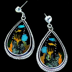 SEA BY NIGHT SILVER EARRINGS