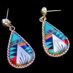 TEARDROPS SILVER EARRINGS
