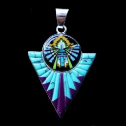 KASHINA INLAY ARROWHEAD PENDANT