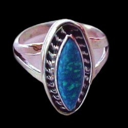 STERLING OVAL RING RING WITH STONE COLOR CHOICE
