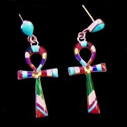 ÂNKH Egyptian Symbol Sterlingsilver Earrings