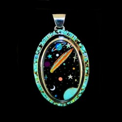 Universe and Comet Sterlingsilver Pendant