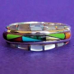 Mother of Pearl Gemstones Woman Sterlingsilver Ring