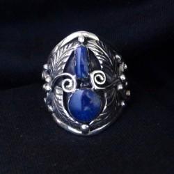 Bague Lapis Lazuli & Plumes