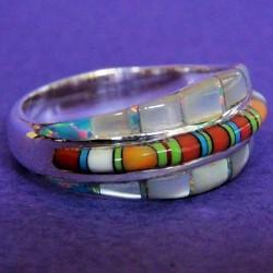 Gemstones Mother of Pearl Woman Sterlingsilver Ring
