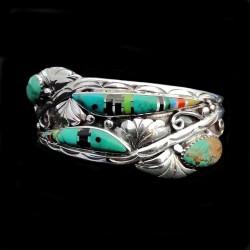 Bracelet Amerindien Poisson en Mosaïque Pour Femme
