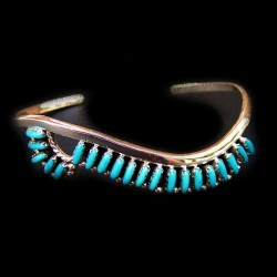 Zuni Needlepoint Sterlingsilver Bracelet For Woman Color Choice