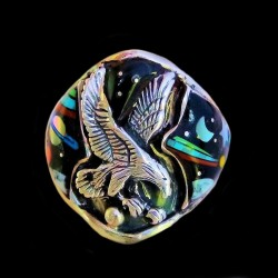 Universe Space Cosmos Flying Eagle Silver Ring