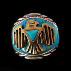 Thunderbird Sterlingsilver & Bronze Ring